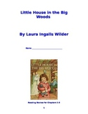 """Little House in the Big Woods"" Booklet for Chapters 1-3"