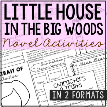 Little House in the Big Woods Interactive Notebook Novel Unit Study Activities
