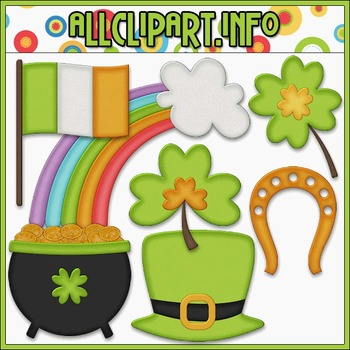 BUNDLED SET - Little Irish Accents Clip Art & Digital Stamp Bundle