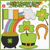BUNDLED SET - Little Irish Accents Clip Art & Digital Stamp Bundle