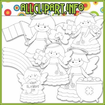 BUNDLED SET - Little Irish Angels Clip Art & Digital Stamp Bundle