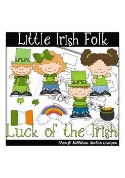 Little Irish Folk Clipart Collection