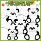 BUNDLED SET - Little Irish Panda Bears Clip Art & Digital Stamp Bundle
