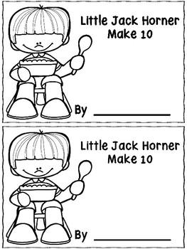 Little Jack Horner Make 10 Booklet