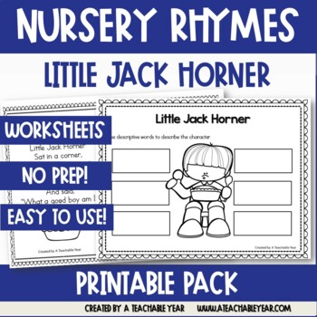 Little Jack Horner - Nursery Rhyme