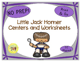 Little Jack Horner Worksheets Activities Games Printables