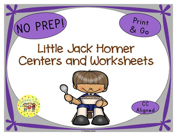 Little Jack Horner Worksheets Activities Games Printables