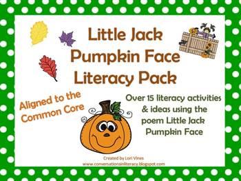 Little Jack Pumpkin Face Literacy Packet
