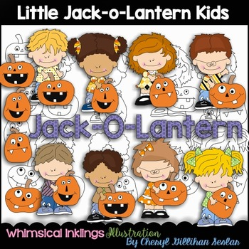 Little JackoLantern Kids Clipart Collection
