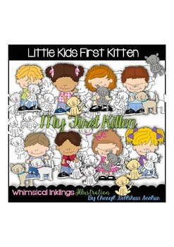 Little Kids First Kitten Clipart Collection