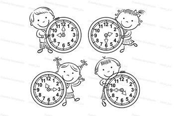 Little Kids Telling Time Set