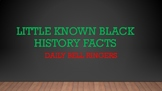 Little Known Black History Facts Bell Ringers