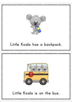 Little Koala At School Easy Reader Back To School Emergent Reader