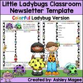 Little Lady Bugs Editable Classroom Newsletter Template -