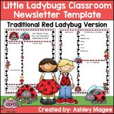 Little Lady Bugs Editable Classroom Newsletter Template Tr
