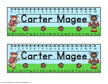 Little Ladybug Friends Editable Name plates /Desk Plates /Name Tags