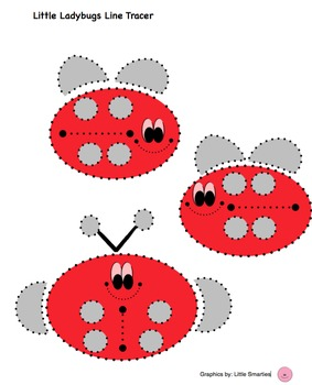 Little Ladybugs Shape and Line Tracer