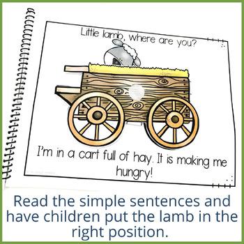 Little Lamb Where Are You? Preposition Interactive Book