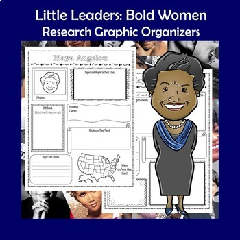 Little Leaders Bold Women in Black History Research Graphic Organizers