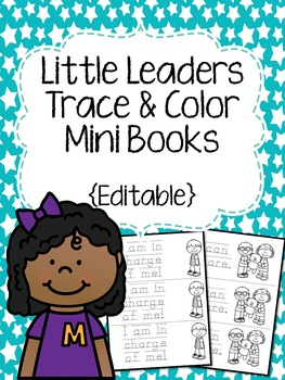 Little Leaders Trace & Color Mini Books {Editable}