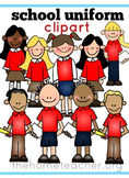 Little Learners Clipart- School Uniforms Red