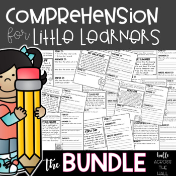 Comprehension Passages and Questions for First Grade, Little Learners BUNDLE