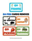 Little Learning Labs - 5 Go Fish Games - Safari Fruits Veggies Wildlife Oceans