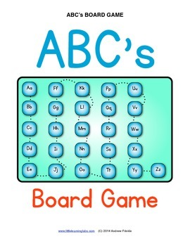 Little Learning Labs - ABCs Board game to go with ABC's Flash Card Set