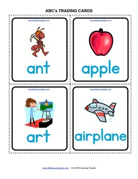 Little Learning Labs - ABCs flash cards 250 card set mega vocabulary game set