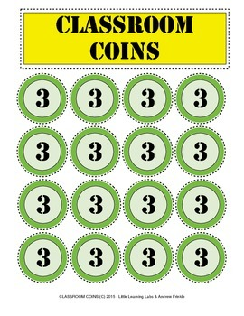 Little Learning Labs - Classroom Coins Set - Behavior Management Tool