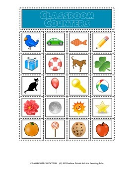 Little Learning Labs - Classroom Counters Set - 20 Math Ma