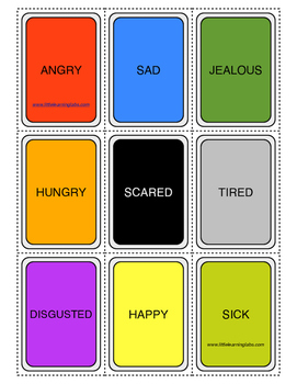 Little Learning Labs - Emotional Charades Card Game