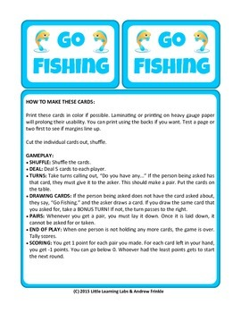 Little Learning Labs - Go Fishing Card Game - Remix of Cla