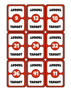 Little Learning Labs - Hard Targets - Addition and Subtraction Math Card Game