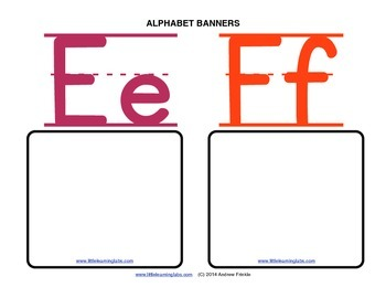 Little Learning Labs - Make your own alphabet banners with penmanship lines