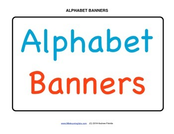 Little Learning Labs - Make your own alphabet banners with simple letters