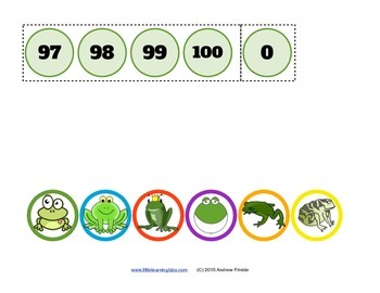 Little Learning Labs - Number Jumpers - skip counting multiples activity