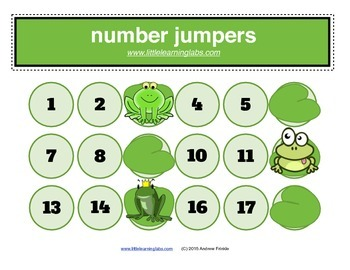 Little Learning Labs - Number Jumpers - skip counting mult