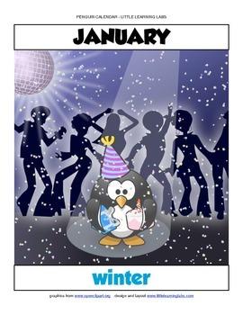 Little Learning Labs - Penguin Theme Calendar - Fill in yo