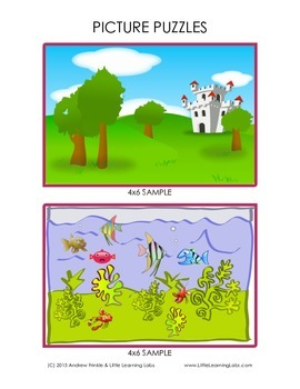 Little Learning Labs - Picture Puzzles - Counting Number Sense Puzzle Activity