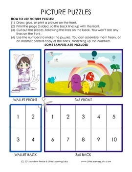 Little Learning Labs - Picture Puzzles - Counting Number S