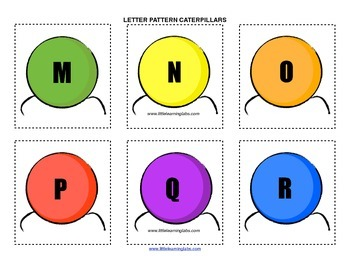 Little Learning Labs Primary Prek Pattern Caterpillars - Letters and Alphabet