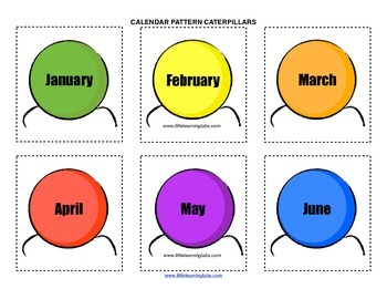 Little Learning Labs Primary Prek Pattern Caterpillars Months Days Seasons