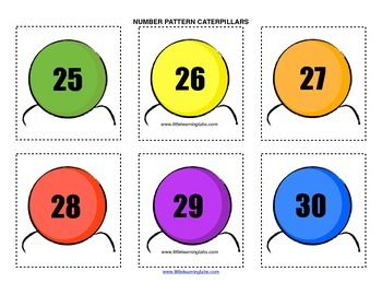 Little Learning Labs Primary Prek Pattern Caterpillars - numbers and counting