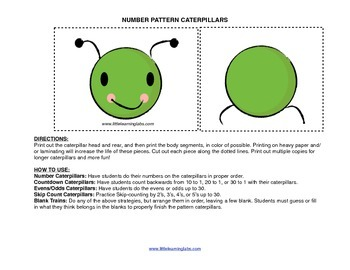 Little Learning Labs Primary Prek Pattern Caterpillars - n