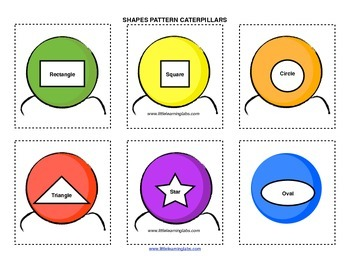 Little Learning Labs Primary Prek Pattern Caterpillars - shapes and geometry