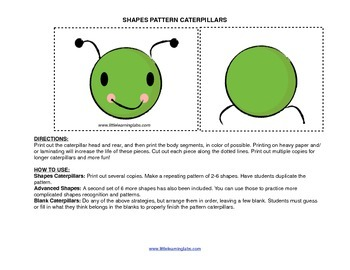 Little Learning Labs Primary Prek Pattern Caterpillars - s
