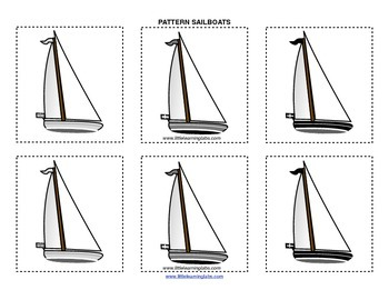 Little Learning Labs Primary Prek Pattern Sailboats - Make your own patterns