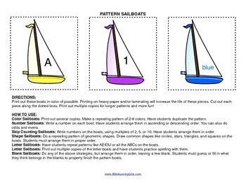 Little Learning Labs Primary Prek Pattern Sailboats - Make