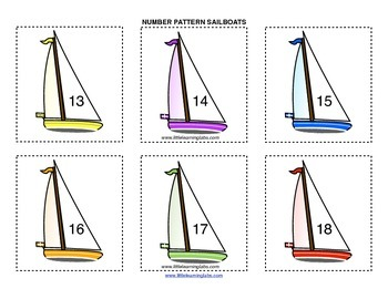 Little Learning Labs Primary Prek Pattern Sailboats - numbers and counting